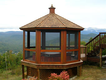 Mahogonay Hot Tub Gazebo